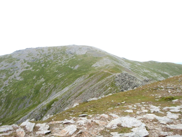 Carnedd Llewelyn, at 1064 metres the highest point on the circuit