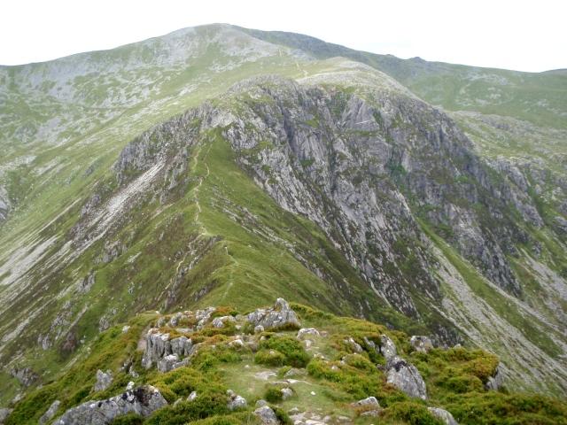 Looking back from Pen yr Helgi Du to Craig yr Ysfa and Carnedd Llewelyn