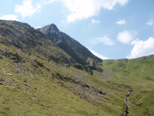 Foel Goch from the High Level path above Nant Ffrancon