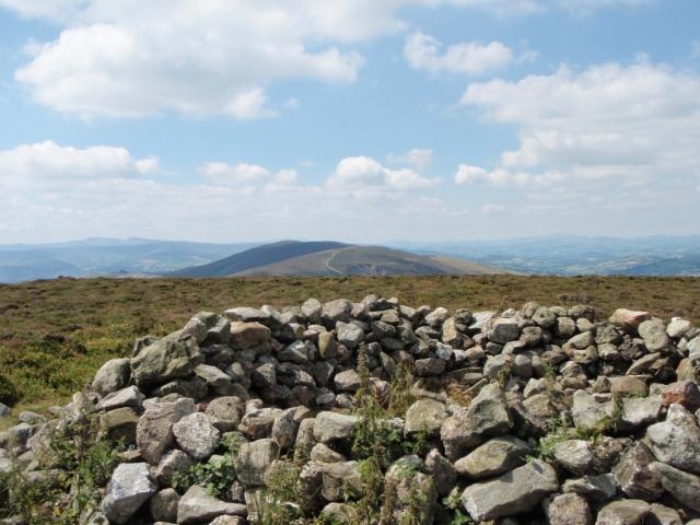Cyrn y Brain looking towards Moel y Faen and Llantysilio Mountain