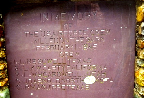 Close up of the memorial