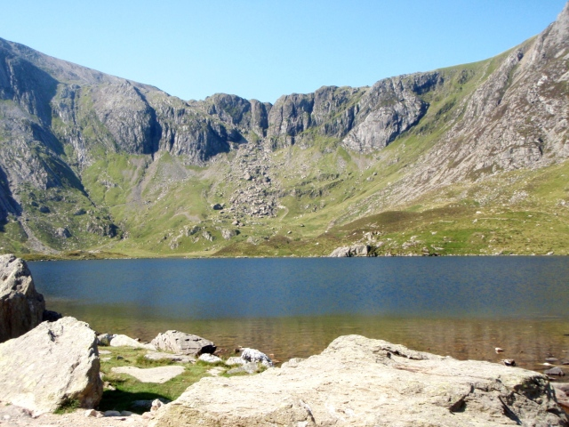 Llyn Idwal with Twll Du (The Devil's Kitchen) behind