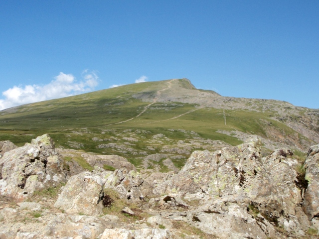 First view of Y Garn to the north