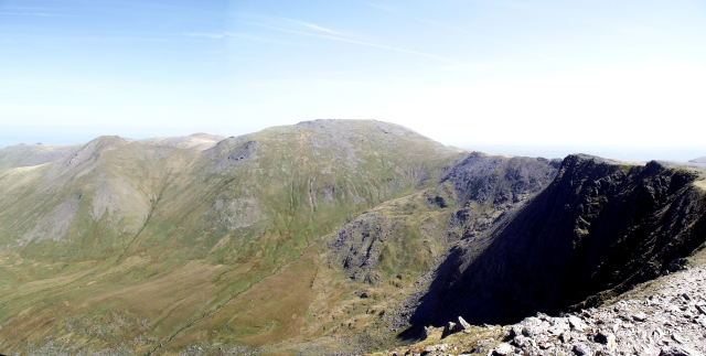 The highpoint (literally) of the Carneddau Traverse – Carnedd Llewelyn, 1064 metres (3490 ft)