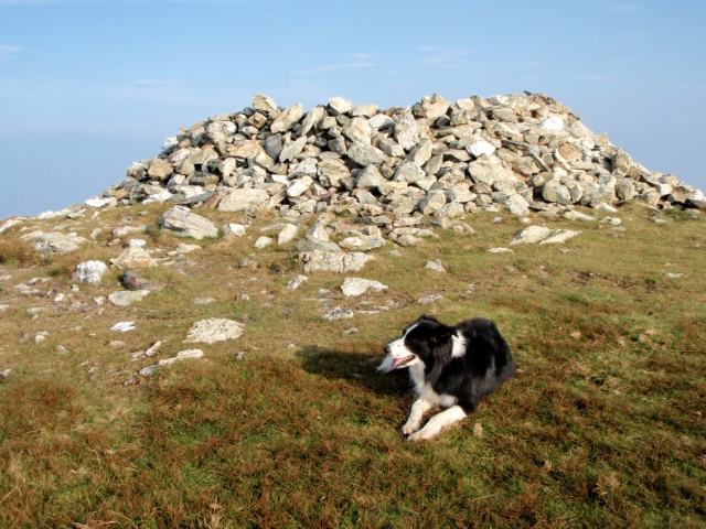 …. with a stone shelter at the summit