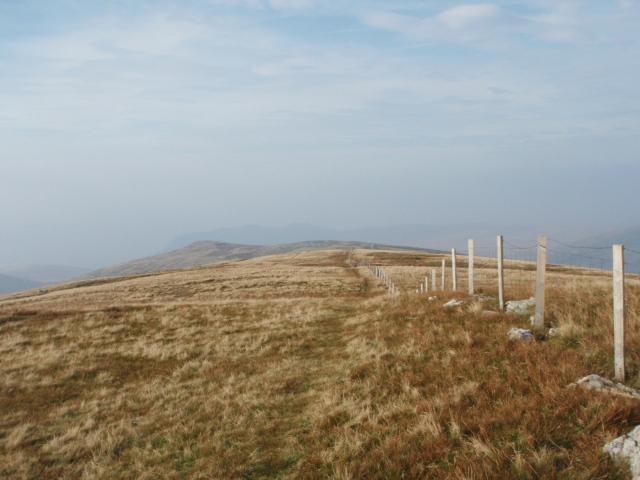 Heading north from the summit of Drum