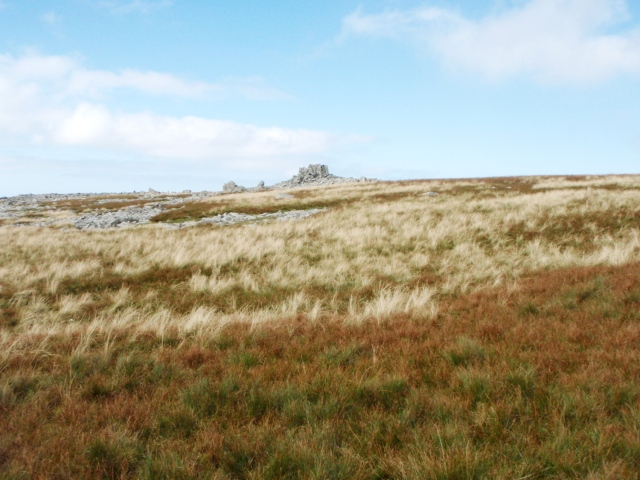 The strange rocks making up the summit of Yr Aryg ….