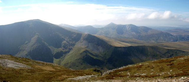 …. and a view of the previous week's route up Carnedd Dafydd (see post #158)