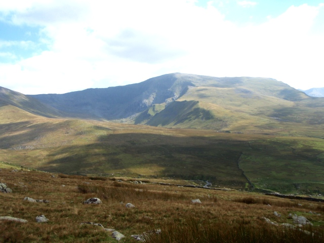 Last view of Carnedd Dafydd – the route of ascent in this post is just right of centre