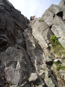 Rock section on the East Ridge