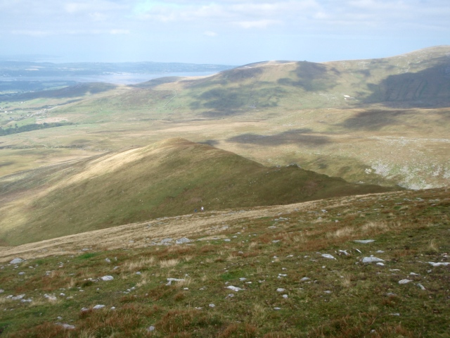 …. and the view back down the ridge