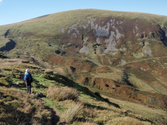 …. with Moel Wnion ahead