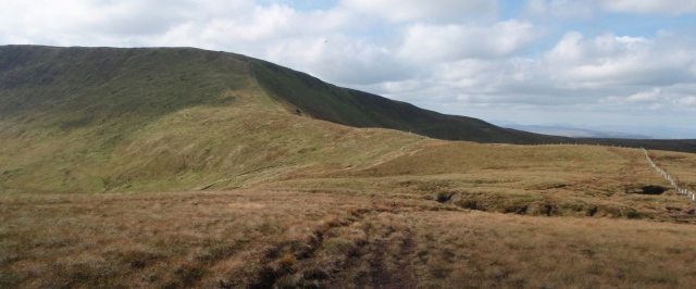 The final section of ascent to the Berwyn Ridge