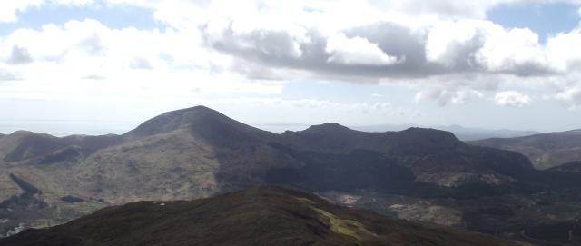 Moel Hebog (left), Moel yr Ogof (centre) and Moel Lefn (right)