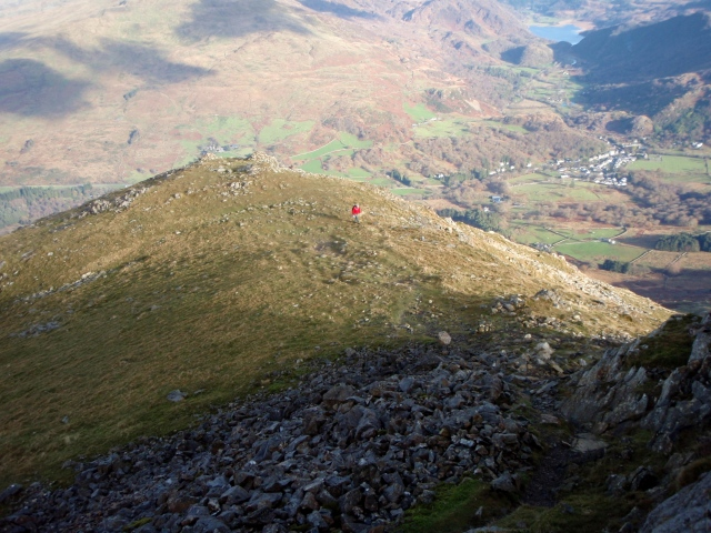 …. and a view down the last steep bit