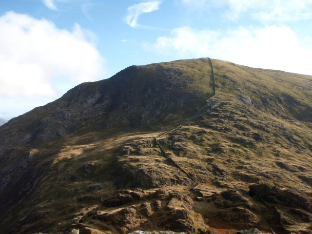 Looking back at the descent of Moel Hebog