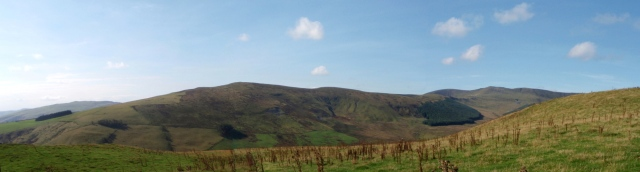 The return leg – Godor (centre) seen from Mynydd Tawr