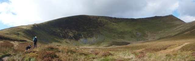 …. and the start of the climb up to Moel Sych