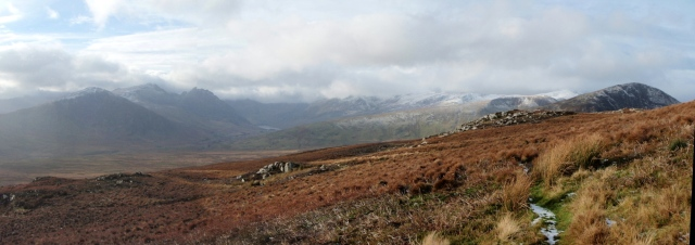 Winter arrives at last in North Wales - Ogwen Valley and the mountains of the Glyderau and Carneddau