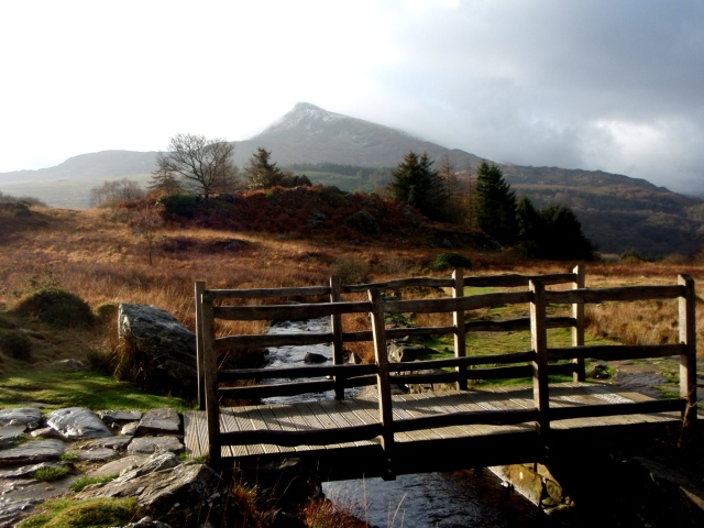 Looking back to Moel Siabod as we set off ….