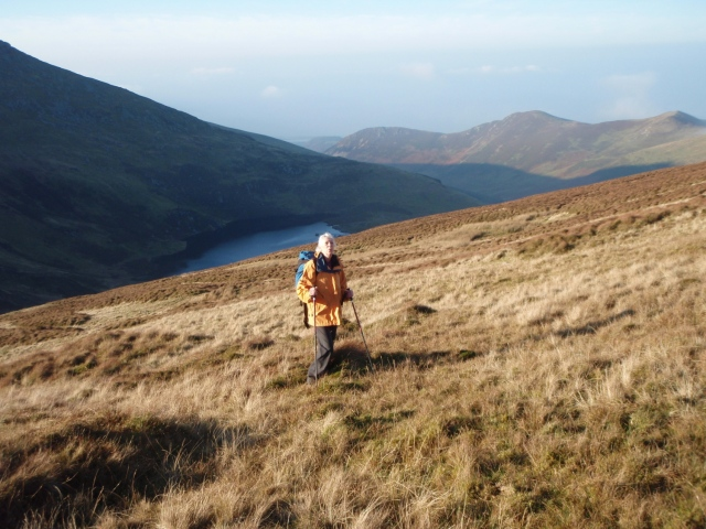 Getting near to the summit of Drum