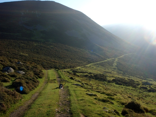 The start of the track to the lake of Llyn Anafon