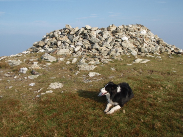 …. with the remains of a Bronze Age cairn on top ….