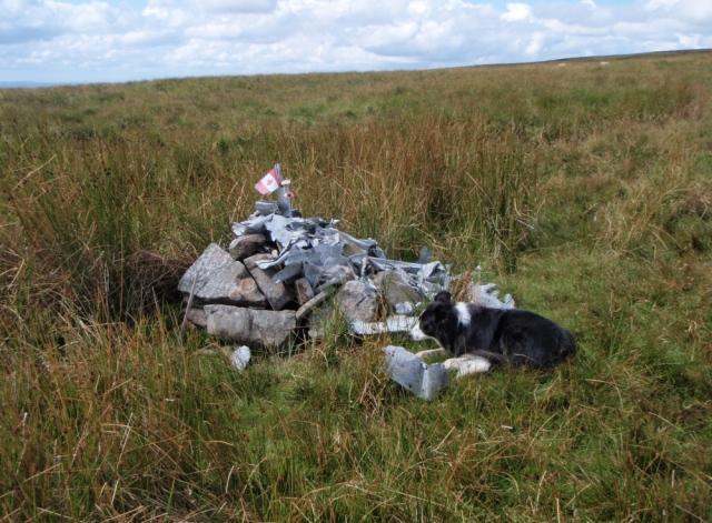 Memorial cairn at the crash site