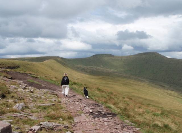 Heading towards the ridge of Rhiw yr Ysgyfarnog