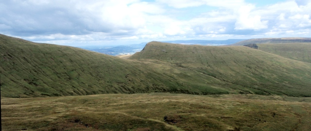 …. and Cribyn and Pen y Big on the opposite side of the Valley