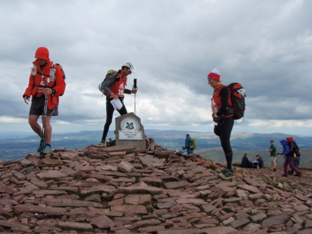 Pen y Fan summit with the ITERA race paying a visit