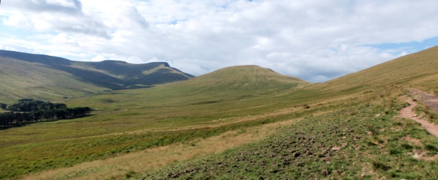 Looking towards Cribyn (centre) and Pen y Fan (left of centre)