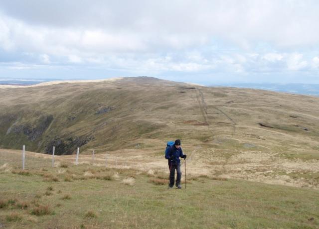 Looking east from Pumlumon Fawr towards Pumlumon Llygad Bychan