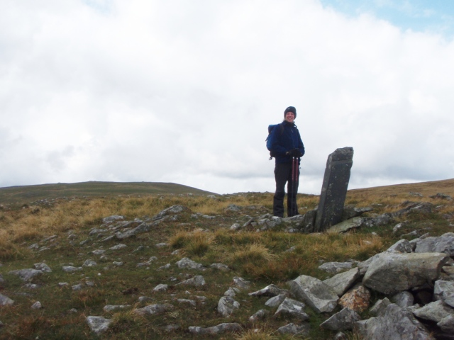 Old boundary stone just a little higher than the crash site