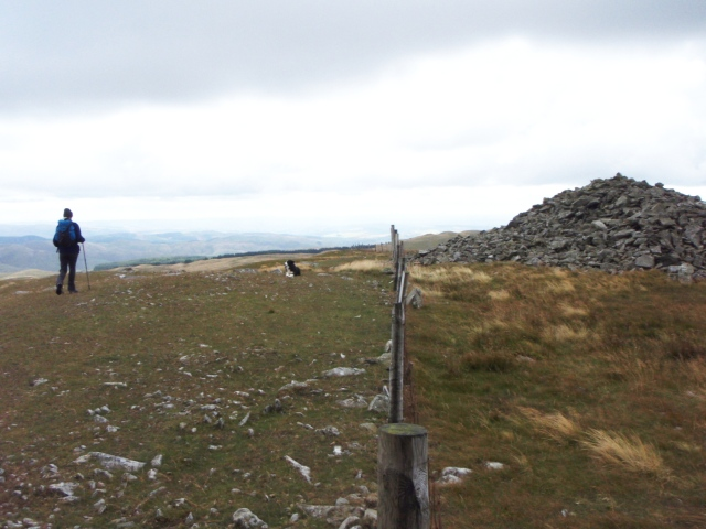 Heading south from the cairn