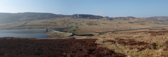 The dam at Llyn Cowlyd