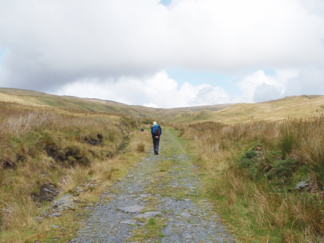 The track opening out by the Afon Tarennig
