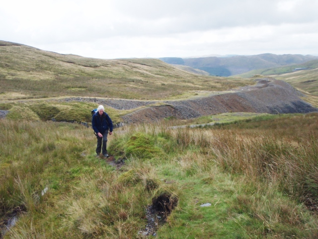 Above the old mine workings, heading for Pen Pumlumon Fawr