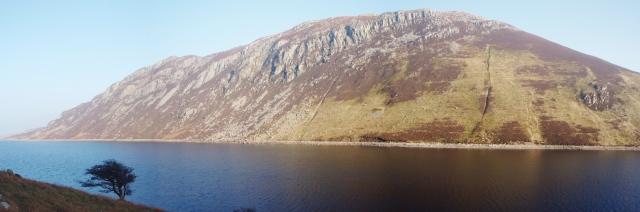 Creigiau Gleision above Llyn Cowlyd Reservoir