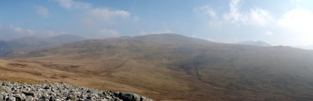 Looking east from Gyrn towards the Carneddau Plateau