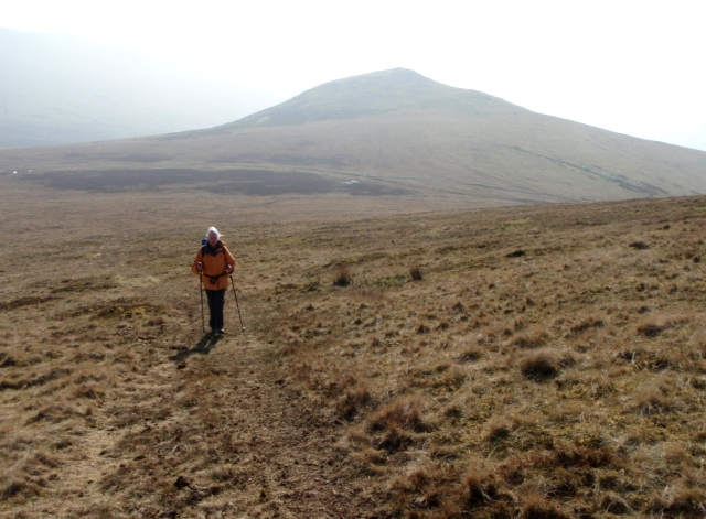 Heading up Moel Wnion, with Gyrn behind