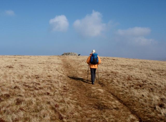 The summit of Moel Wnion ahead ….
