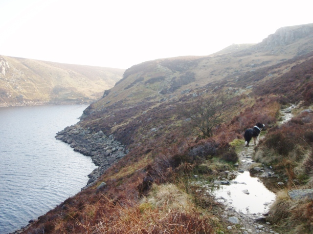 The path above the lake on the return route