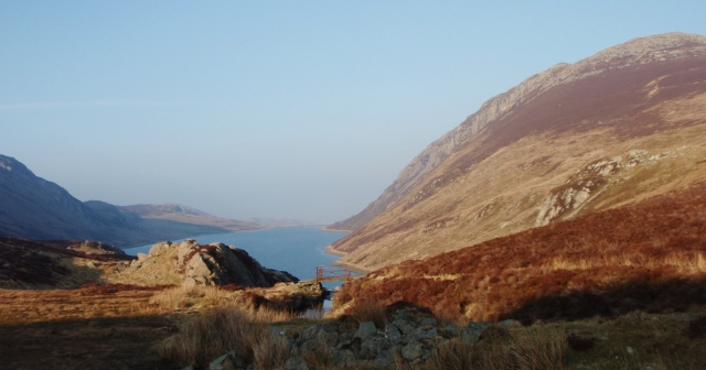 The final view down to Llyn Cowlyd from the bwlch (pass)