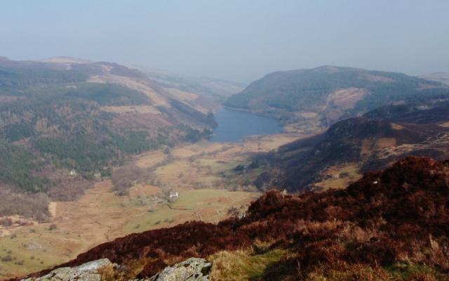 Looking down to Llyn Crafnant