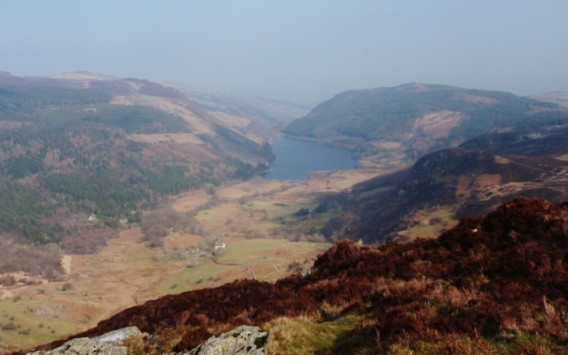 Looking down to Llyn Crafnant