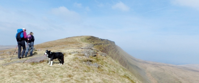 On the Fan Hir Ridge – Mynydd Du (The Black Mountain)