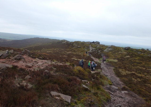 The paths above the climbing crags were also busy