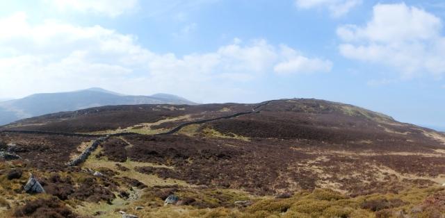 The view back to Foel Lwyd and the Carneddau