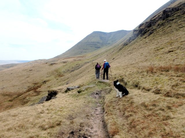 Heading back towards Llyn y Fan Fawr ….